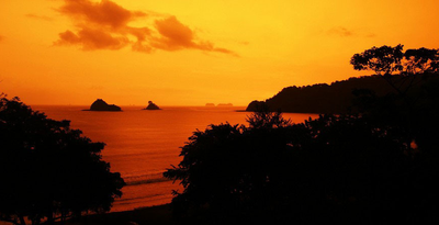 Las Catalinas Beach Living in Costa Rica Sunset Home Views